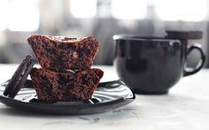 muffins de chocolate y oreo