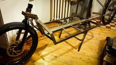 """""""Another test to see if everything roughly fits. Taking shape already! See how this cargo bike is built… in 100 photos, here… Online Home Design, Home Design Magazines, Bike Trailer, Cargo Bike, Taking Shape, Metal Shop, Garden Architecture, This Is Us, House Design"""