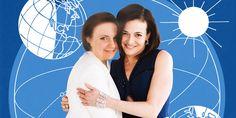 Lena Dunham Chats with Sheryl Sandberg