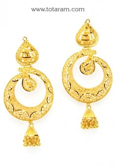 Totaram Jewelers Online Indian Gold Jewelry store to buy Gold Jewellery and Diamond Jewelry. Buy Indian Gold Jewellery like Gold Chains, Gold Pendants, Gold Rings, Gold bangles, Gold Kada Gold Earrings Designs, Gold Drop Earrings, Pendant Earrings, Gold Temple Jewellery, Gold Jewelry, Indian Earrings, Indian Jewelry, Jewelry Patterns, Gold Bangles