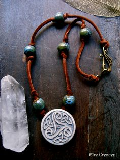 ✯ Celtic Triskele Necklace :: Etsy Shop EireCrescent ✯