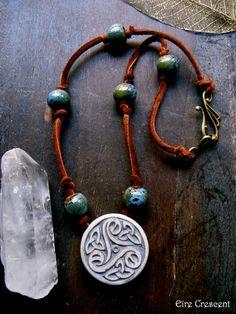 ✯ Celtic Triskele Necklace :: Etsy Shop EireCrescent ✯
