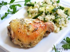 "Greek Marinated Chicken ~ check out MY (Jacquie M.) salad section for ""Lemony Cucumber Couscous Salad"" the salad pictured to go with it!"