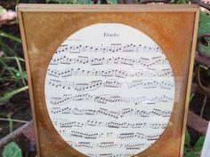 Tin Matt Frame, Frame, Gold Frame, Pressed Tin Matt, Oval Matt, Picture Matt, Etude Music, Sheet Music, Best Seller, Top Seller, Regency by CasaKarmaDecor on Etsy