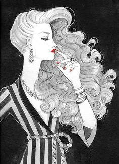 jerry hall, illustrated
