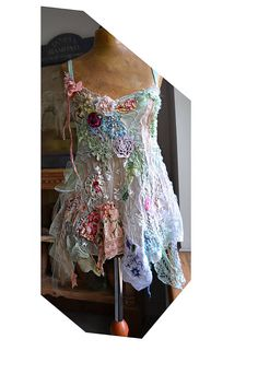 Unique Art To Wear Romantic Lacy Top LITTLE ROSES Antique Details Undine Forest Fairy Boho Antoinette Tattered by Paulina722 on Etsy https://www.etsy.com/au/listing/540118968/unique-art-to-wear-romantic-lacy-top