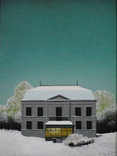 Gaston Bogaert (Belgian, 1918 - 2008) After the snow (Après la neige), N/D Oil on canvas, 35 x 27 cm