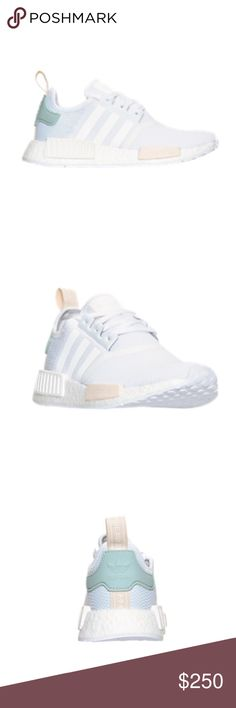 Women's Adidas NMD Brand new, never worn NMDs. Women's white, tactile green. Size 8 Adidas Shoes Sneakers