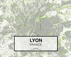 Lyon - France. Download CAD Map city in dwg ready to use in Autocad. www.mapacad.com