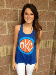 OKC Monogram flowy tank-royal