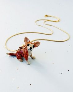 33601181f COLLECTIONS - ALL CREATURES GREAT & SMALL | Eclectic Eccentricity Vintage  Jewellery. Dog NecklaceCeramic AnimalsChihuahuasJewelry ...
