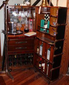 Incredible Steamer Trunk Bar