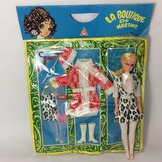 Vintage 1970 s La Boutique De Martine 11  Fashion Doll & Animal Print CARDED