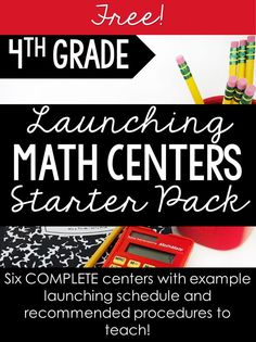 4th grade teachers, this starter pack contains EVERYTHING you need to launch math centers in your classroom. This starter pack of math centers covers review skills for 3rd grade allowing your students to focus on learning the procedures and expectations of math center time. An example launching sequence and recommended procedures to teach is also included!