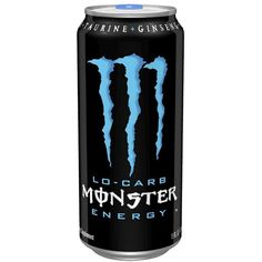 Monster Lo-Carb Energy Drink 16oz ($12) ❤ liked on Polyvore featuring food, drinks, food and drink, fillers and other