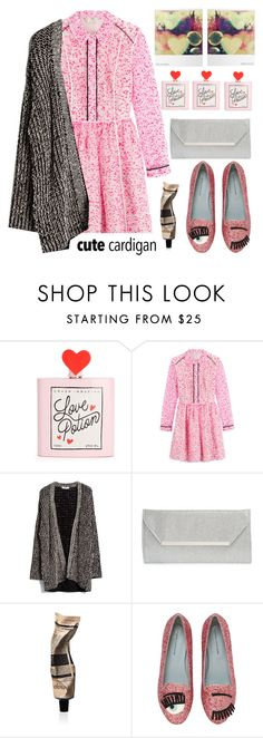 """I wear a cardigan!!!! "" by karineminzonwilson ❤ liked on Polyvore featuring Fendi, MANGO, Polaroid, Glint, Aesop, Chiara Ferragni, cutecardigan and springlayers"