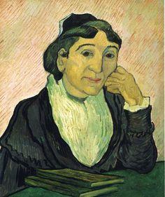 Portrait of Madame Ginoux (L'Arlesienne) - Vincent van Gogh, 1890 Place of Creation: Saint-rémy-de-provence, France Style: Post-Impressionism Genre: portrait Technique: oil Material: canvas Dimensions: 50 x 60 cm Gallery: Galleria Nazionale d'Arte Moderna e Contemporanea, Rome, Italy