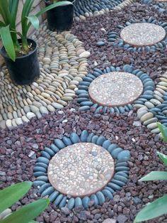 allée de jardin galets decoration | Stones | Pinterest | Comment ...