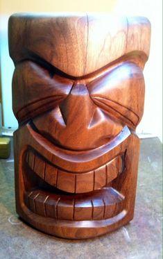 Secret Squirrel Tiki Carving