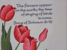 Flowers from the Bible Inspirational by LakesideQuiltsMaine, $19.00