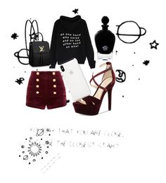 BAAAM by latipovasvetlana on Polyvore featuring polyvore, fashion, style, Pierre Balmain, Jessica Simpson, Louis Vuitton, EB Florals and clothing
