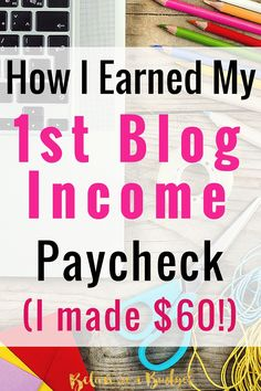 I am so excited to share my very first blog income report! I am completely shocked and really happy.  After about 5 months of blogging, I made money! I am sharing exactly how I have turned blogging into a fun side hustle!