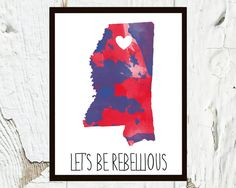University of Mississippi Ole Miss Let's Be by CraftandCandor, $12.00
