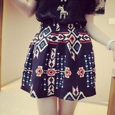 Patterned A-Line Skirt from #YesStyle <3 QZ Lady YesStyle.com