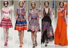 hermosa tendencia mexicana Alberta Ferretti MFW Primavera Verano 2014