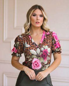 Floral Blouse, Ideias Fashion, Tunic Tops, Fancy, Women, Style, Women's Blouses, Mesh, Outfits
