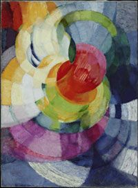 """Disks of Newton (Study for """"Fugue in Two Colors""""), 1912, Frank Kupka."""
