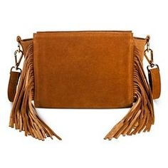 Women's Suede Fringe Crossbody Bag