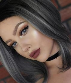Women's Natural Hairline Wig Medium Length Natural Wigs¡ê?Bob Short Lace Frontal Wigs For Black Women Ash Gray Hair Color, Ombre Hair Color, Brown Hair Colors, Ombre Bob, Silver Ombre Hair, Best Ombre Hair, Bob Short, Natural Wigs, Hair Highlights