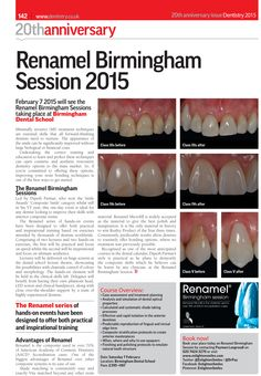 New January article: Renamel Birmingham Session - Dr Dipesh Parmar - February 2015 Event: http://www.enlightensmiles.com/Events/Lectures-and-Hands-on-courses/Renamel-Birmingham-Sessions-Event-Details