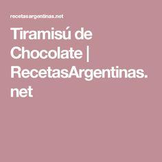 Tiramisú de Chocolate | RecetasArgentinas.net