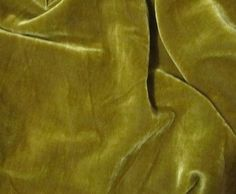 Silk VELVET Fabric IRIDESCENT ANTIQUE GOLD 45