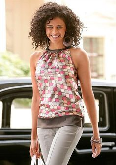 Vivien Caron Druckbluse Tank Tops, Modern, Fashion, Moda, Halter Tops, Trendy Tree, La Mode, Fasion, Fashion Models