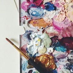 Imagen de art, paint, and colors