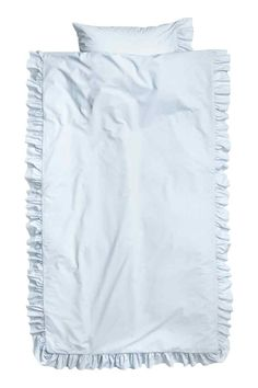 Komplet pościeli z bawełny - Jasnoniebieski - HOME | H&M PL 1