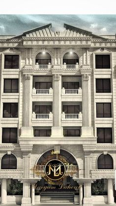 archways and columns Classic House Exterior, Classic House Design, Neoclassical Architecture, Classic Architecture, Bungalow House Design, House Front Design, Foyer Design, Entrance Design, Arch House
