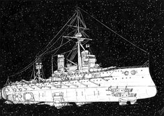 HMS Dreadnought in space by JanBoruta on DeviantArt