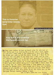Evidence used to convict Amelia Dyer, who killed up to 400 babies, is donated to a museum. Thames Valley Police, Serial Killers, Mug Shots, Infants, Amelia, Farming, Psychology, Crime, Period