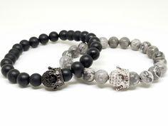 Her King / His Queen 18k Couples Bracelets  Online  LuxWristRoyalty.com   #mensbracelets  #womensbracelets  #couplesbracelet  #couplesgiftideas #giftideas #anniversarygifts