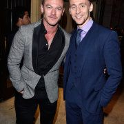 #HQ##Tom Hiddleston##Luke Evans##Brie Larson##Eddie Redmayne# and #Marc Abraham# attend the InStyle & HFPA party during the 2015 Toronto International Film Festival at the Windsor Arms Hotel on September 12, 2015 in Toronto, Canada