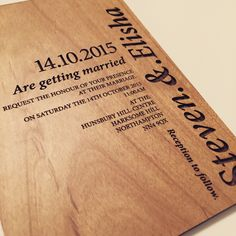 Rustic Woodland invitations made bespoke from www.batemandesigns.co.uk