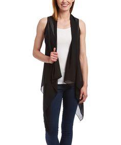 Love this Black Convertible Vest by Fashion 21 on #zulily! #zulilyfinds