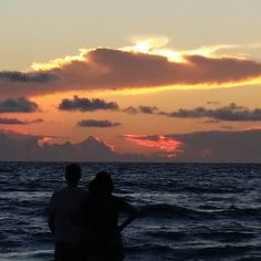 Sungazers. Unretouched morning #sunrise #delraybeach