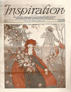 The beautifully illustrated October-November 1921 cover of Inspiration magazine.