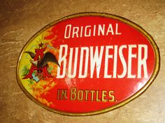 Anheuser Busch Beer Tin Sign Budweiser Vintage Old Pre Pro Vintage Beer Signs, American Beer, Beers Of The World, Brew Pub, Beer Festival, Old Signs, Advertising Signs, Best Beer