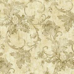 Athena Jacobean Trail Moss Wallpaper 297-41008